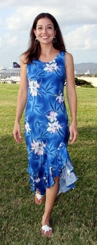 Mid Length Dress Midnight Orchid Blue