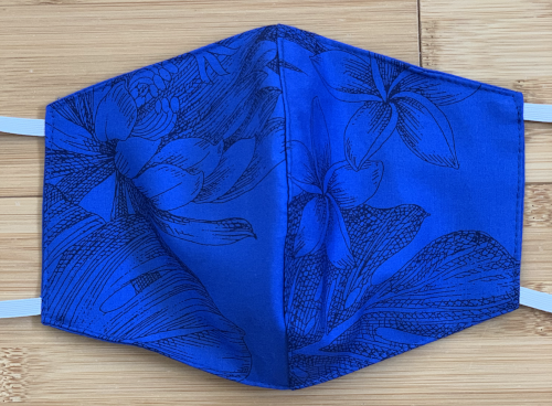 Face Mask Monstera Ceres Royal Blue