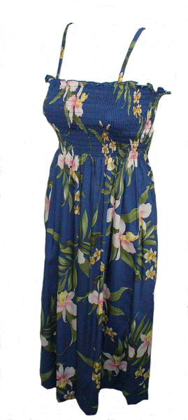 Tube Top Dress Poly Orchid Blue