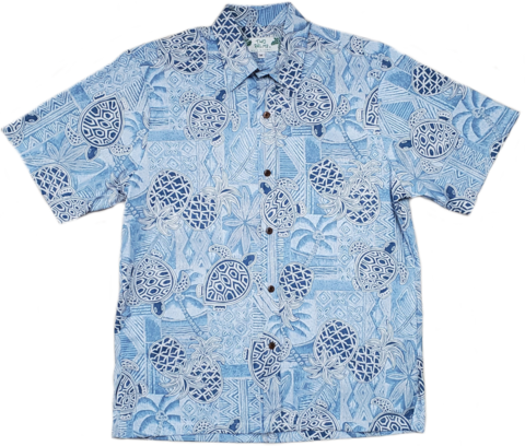 Reverse Print - Turtle Pineapple Blue