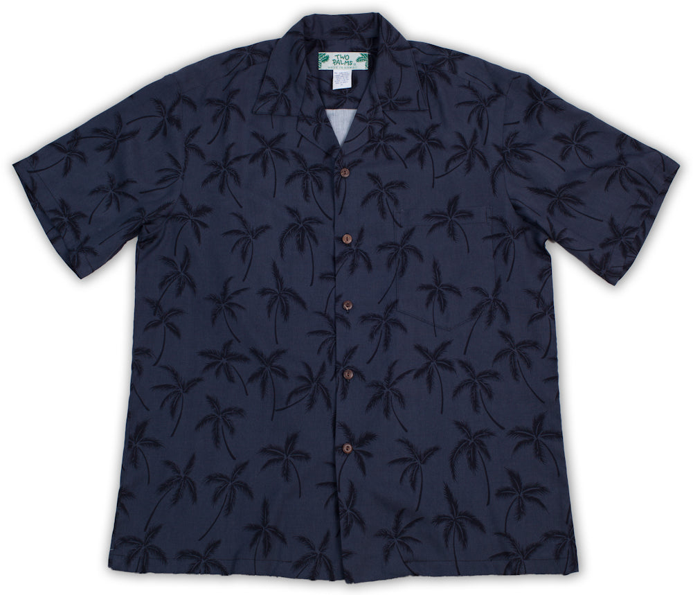 Hawaiian Shirt Palm Tree Black