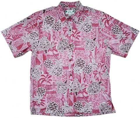 Reverse Print - Turtle Pineapple Red