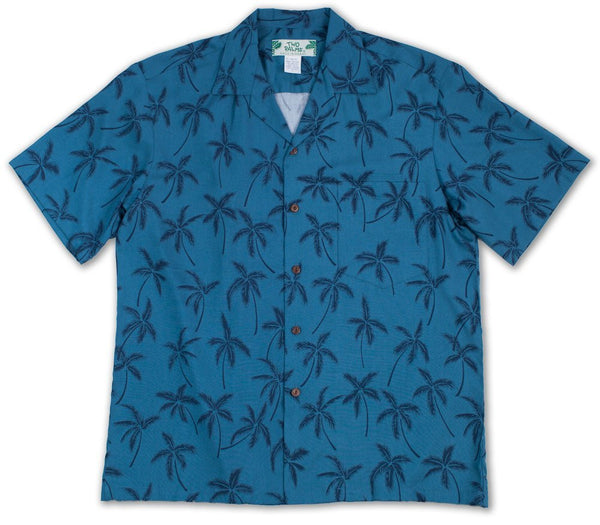 Hawaiian Shirt Palm Tree Blue