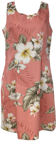 Tank Dress Hibiscus Trends Coral