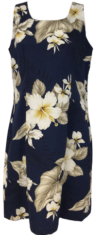 Tank Dress Hibiscus Trends Navy