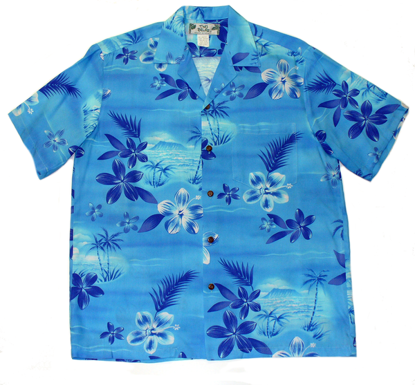 Hawaiian Shirt Moonlight Scenic Blue