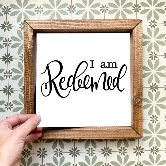 I am redeemed magnetic design (design only, frame not included)