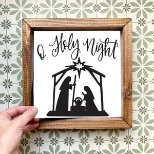 O Holy Night magnetic design (design only, frame not included)