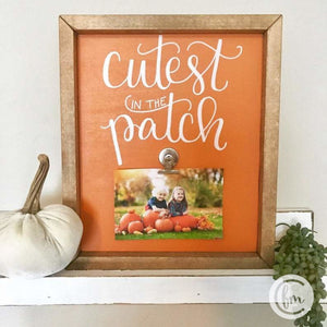 Cutest in the patch handmade photo frame