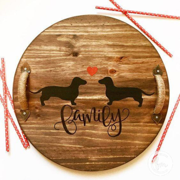 Dachshund Family tray or lazy susan