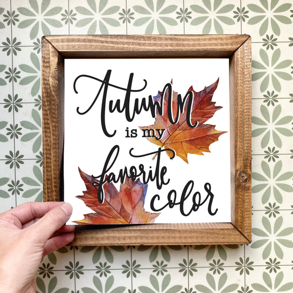 Autumn is my favorite color magnetic design (design only, frame not included)