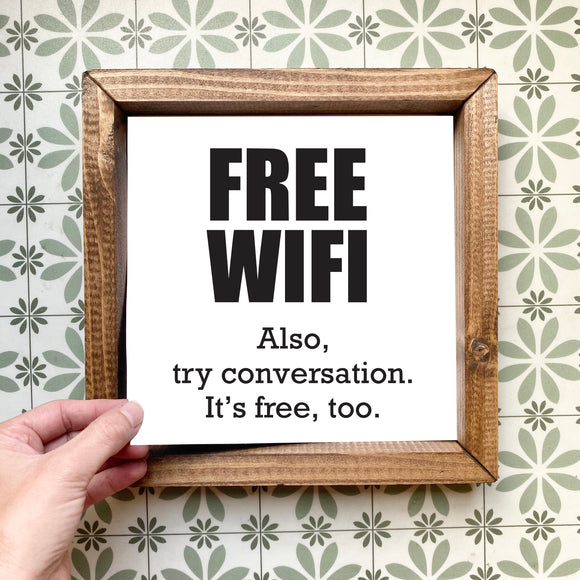 Free Wifi magnetic design (design only, frame not included)