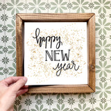 Happy New Year magnetic design (design only, frame not included)
