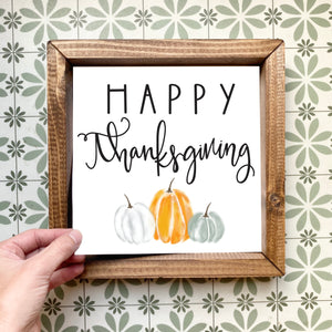 Happy Thanksgiving magnetic design (design only, frame not included)
