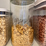 Peel-and-Stick Clear Pantry Labels - BREAKFAST SET