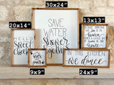 Save Water Shower Together handmade sign