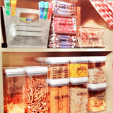 Peel-and-Stick Clear Labels - DRY GOODS SET