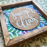Palms baby name handmade sign