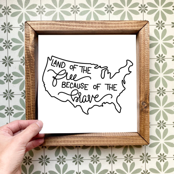 Land of the free magnetic design (design only, frame not included)