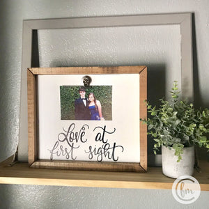 Love at First Sight handmade sign