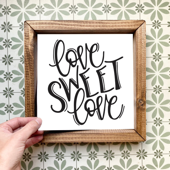 Love sweet love magnetic design (design only, frame not included)