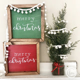 Merry Christmas mini sign - red or green