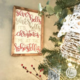Personalized Silver Bells sign