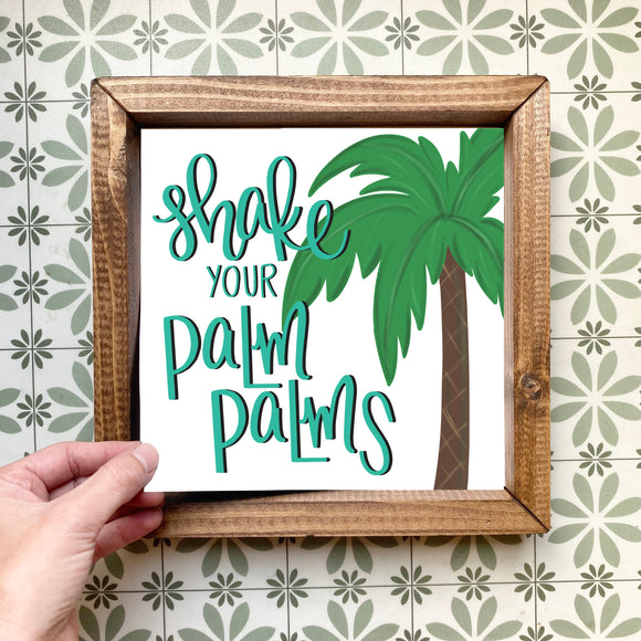 Shake your palm palms magnetic design (design only, frame not included)