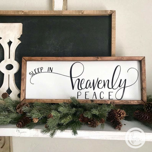 Sleep in Heavenly Peace handmade sign