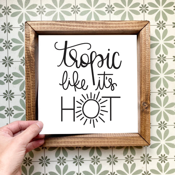 Tropic like it's hot magnetic design (design only, frame not included)