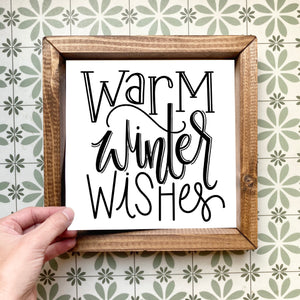 Warm winter wishes magnetic design (design only, frame not included)