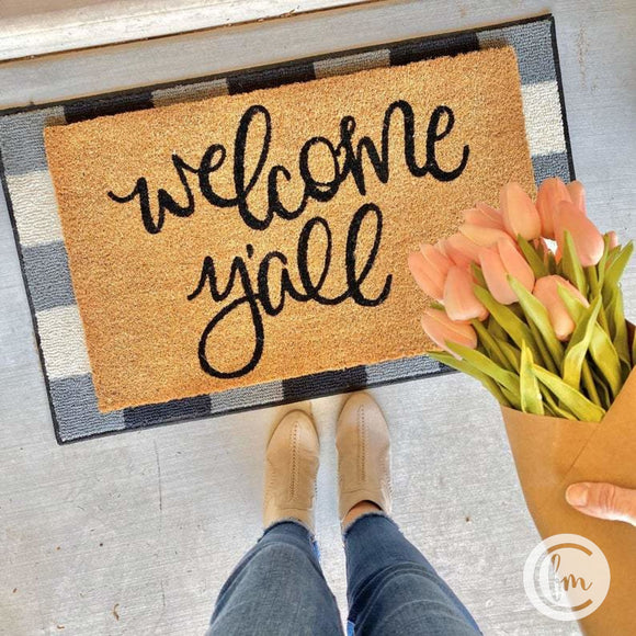 Welcome Yall door mat