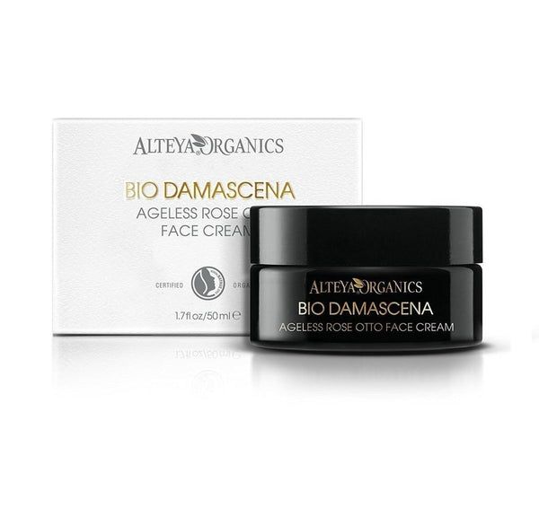 ALTEYA Bio Damascena Ageless Rose Otto Face Cream 有機奧圖玫瑰抗老修護面霜 [50ml] - MINT Organics