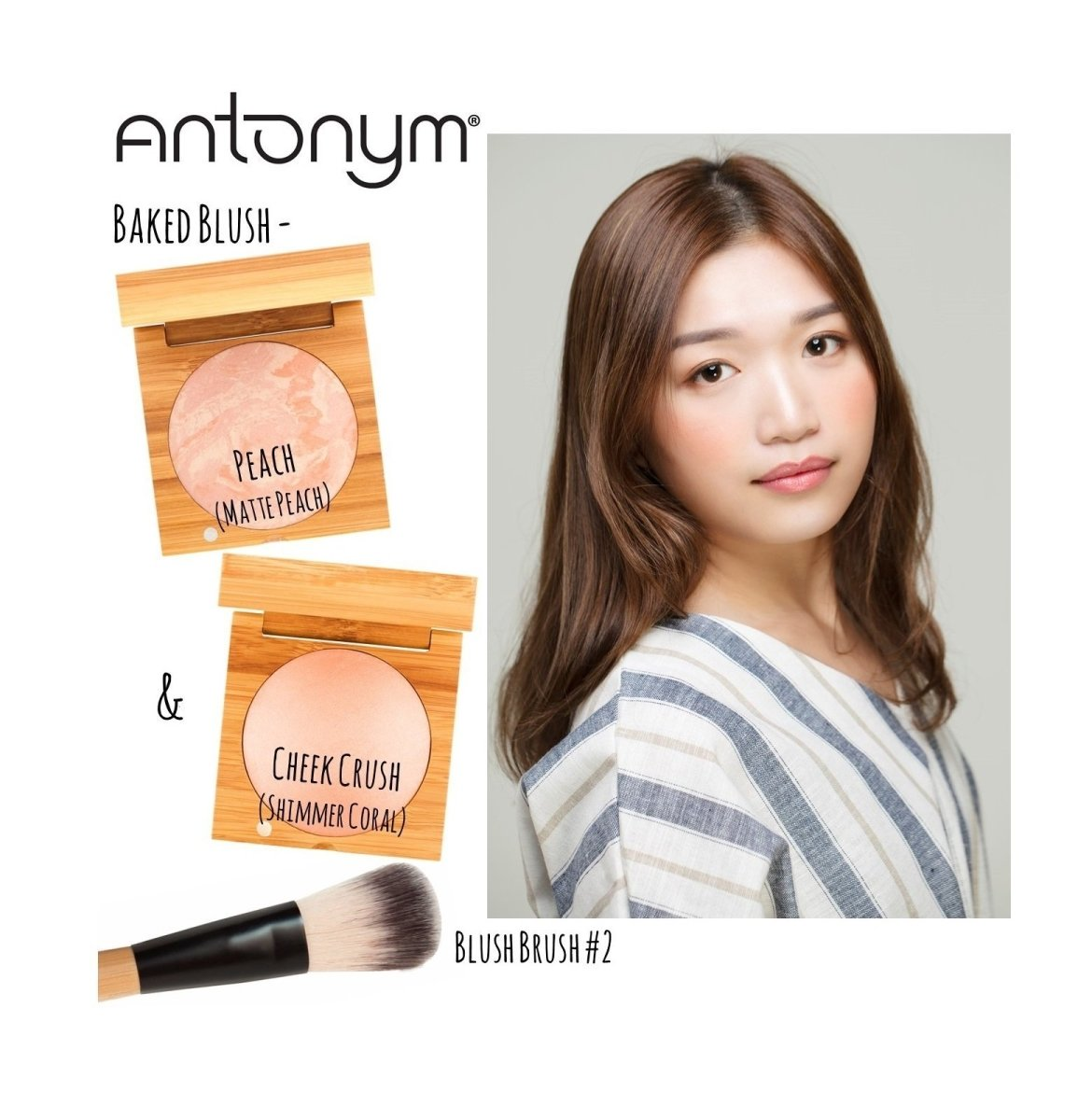 ANTONYM Organic Baked Highlighting Blush 有機烘焙亮彩胭脂 [6.5g] - Cheek Crush - MINT Organics