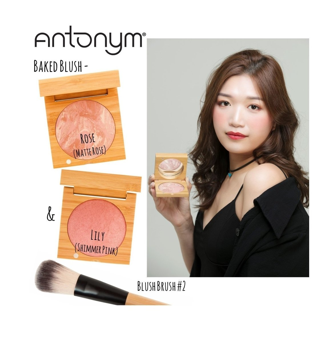 ANTONYM Organic Baked Highlighting Blush 有機烘焙亮彩胭脂 [6.5g] - Lily - MINT Organics