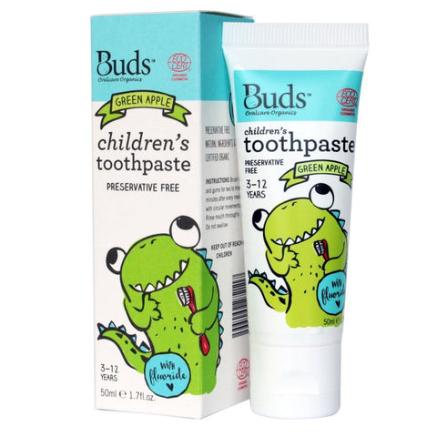 BUDS Children's Toothpaste with Fluoride 有機幼兒牙膏 (3-12歲) [50ml] - MINT Organics