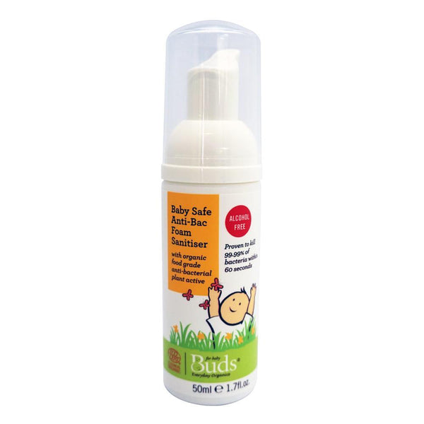 BUDS Everyday Baby Safe Anti-bac Foam Sanitiser 有機無酒精消毒泡泡 [50ml] - MINT Organics
