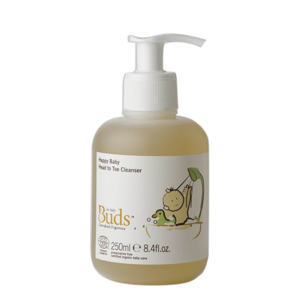 BUDS Happy Baby Head To Toe Cleanser 幼兒有機滋養洗髮沐浴液 [250ml] - MINT Organics