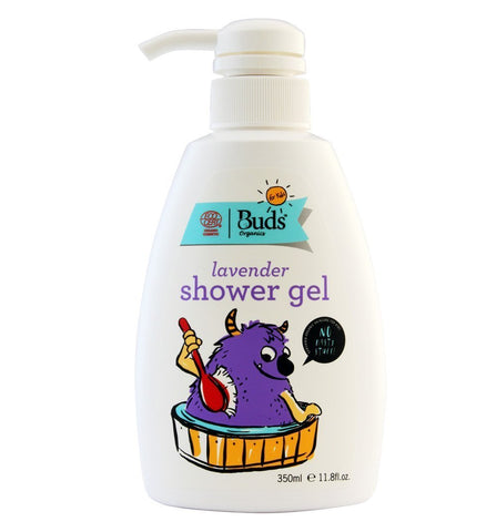 BUDS Lavender Shower Gel 兒童有機薰衣草沐浴液 [350ml] - MINT Organics