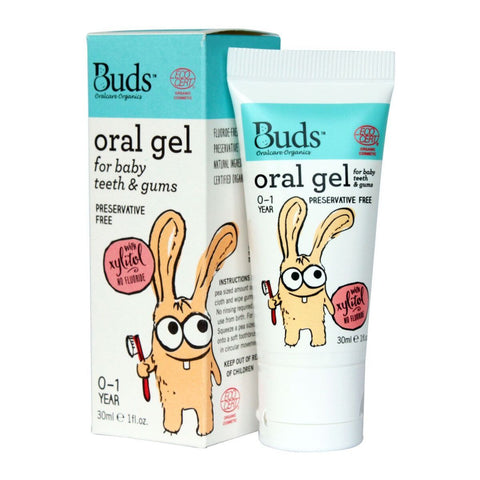 BUDS Oral Gel for Baby Teeth & Gums 潔齒啫喱 (0-1歲) [30ml] - MINT Organics