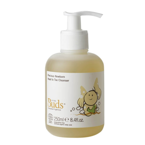 BUDS Precious Newborn Head To Toe Cleanser 初生有機滋養洗髮沐浴液 [250ml] - MINT Organics