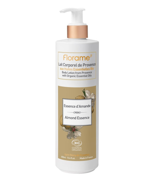 FLORAME Body Lotion Almond Essence 有機杏仁潤膚霜 [400ml] - MINT Organics