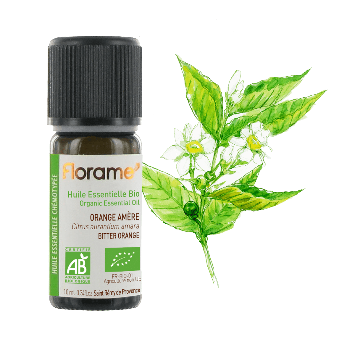 FLORAME Organic Essential Oil - Bitter Orange Blossom 有機橙花精油 [1ml] - MINT Organics