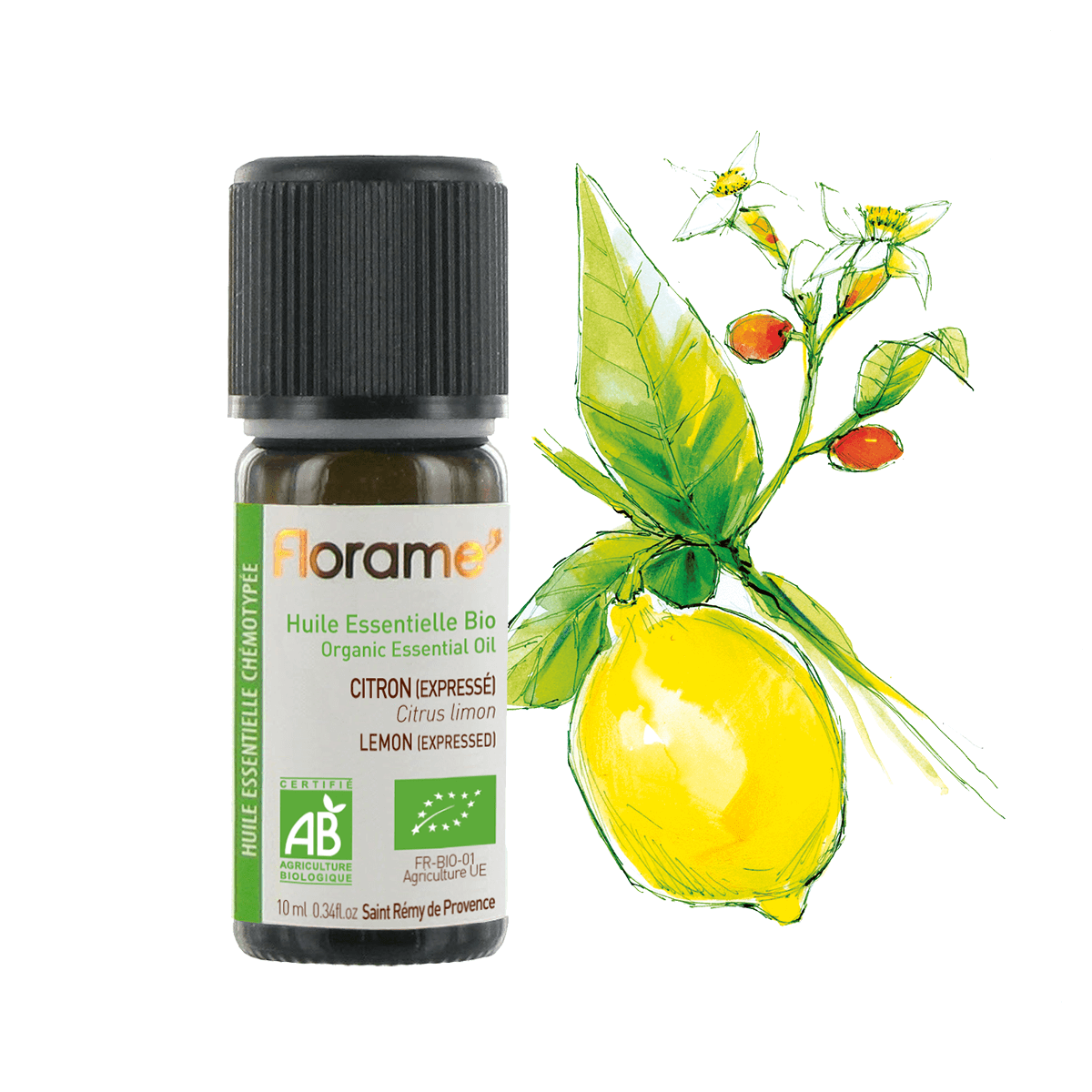 FLORAME Organic Essential Oil - Lemon (Expressed) 有機檸檬精油 [10ml] - MINT Organics