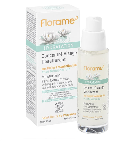 FLORAME Organic Moisturizing Face Concentrate 有機睡蓮極緻保濕精華 [30ml] - MINT Organics