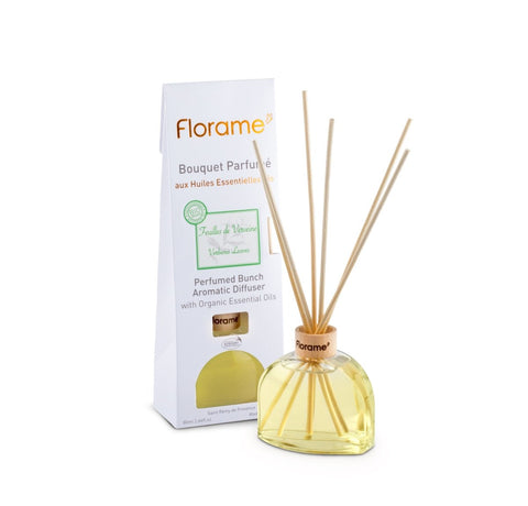 FLORAME Perfumed Sticks Verbena Leaves 馬鞭草家居香薰座 [80ml] - MINT Organics