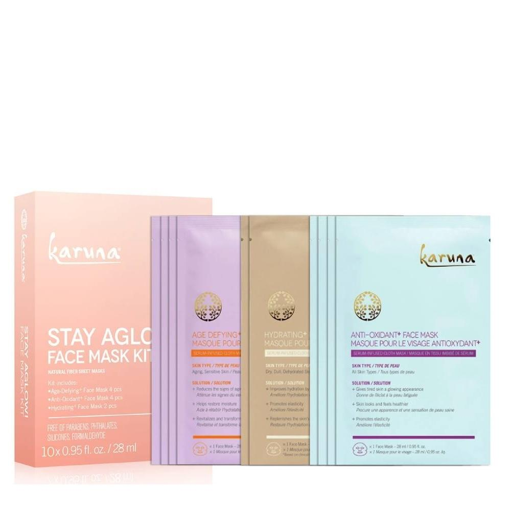 KARUNA STAY AGLOW! Face Mask Kit 全方位修護面膜套裝 [10pcs] - MINT Organics