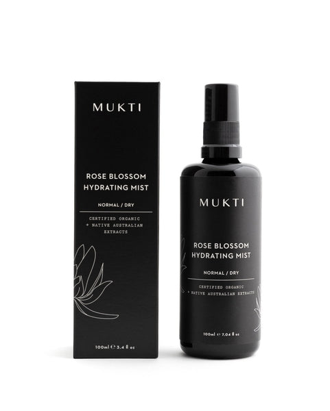 MUKTI Rose Blossom Hydrating Mist [100ml] - MINT Organics