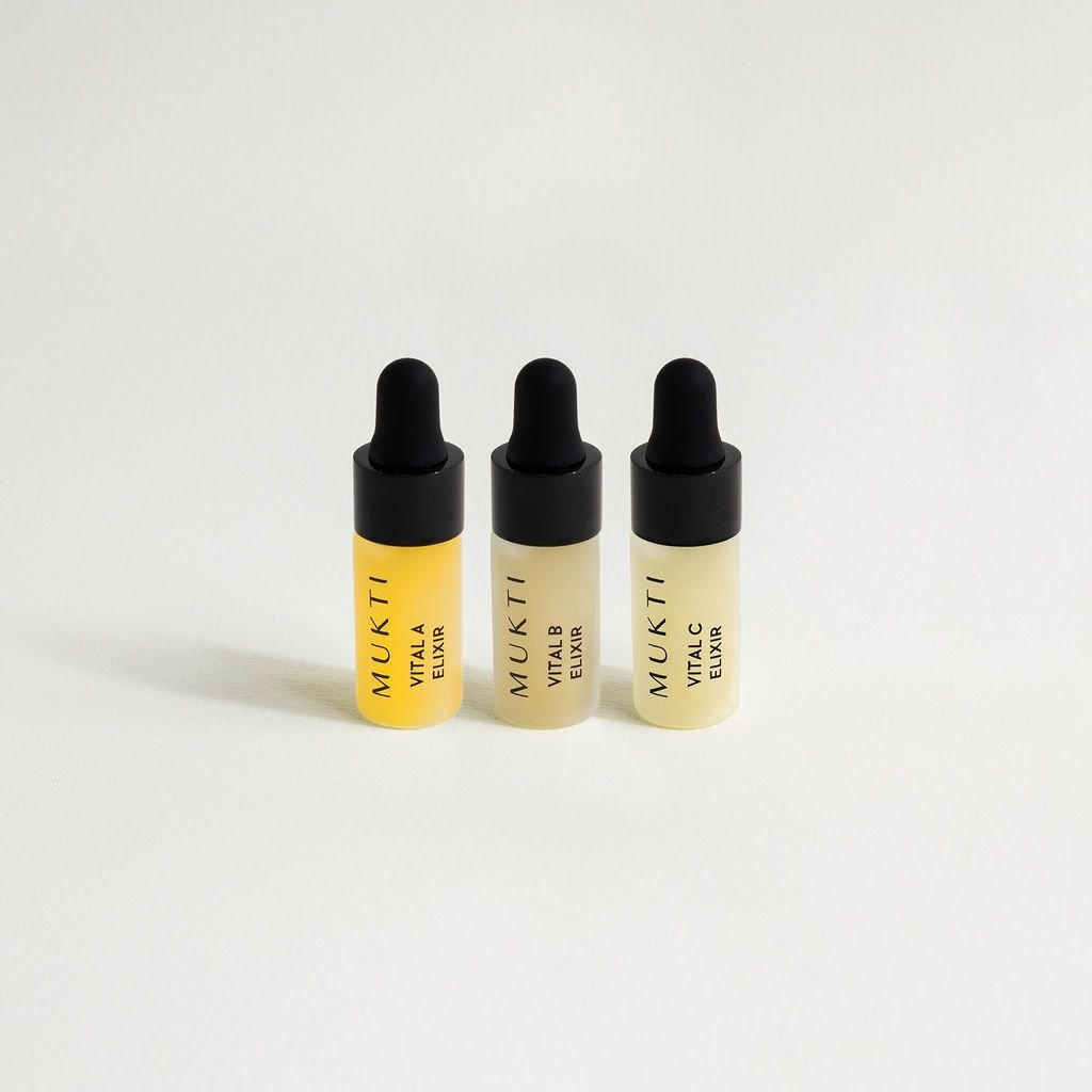 【網購限定】MUKTI Vitamin Booster Mini Kit 維他命精華體驗套裝 [3ml x 3] - MINT Organics