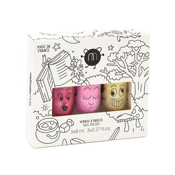 Nailmatic KIDS - Nail Polish Set 指甲油三支套裝 [3x8ml] - Magic Forest 魔法森林 - MINT Organics